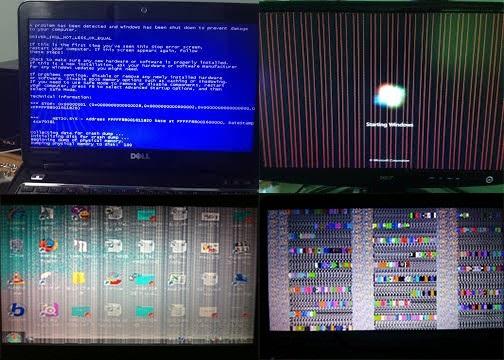 Sửa màn hình Laptop bị rát sọc ngang sọc dọc caro - 3