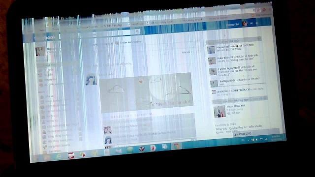 Laptop đứt cable VGA màn hình bị nhiễu nhấp nháy - 2