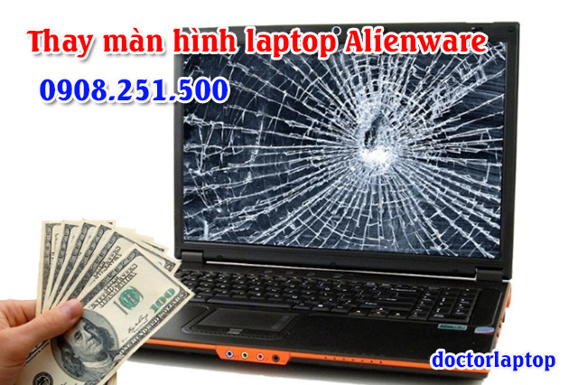 Thay màn hình Laptop Alienware - 1