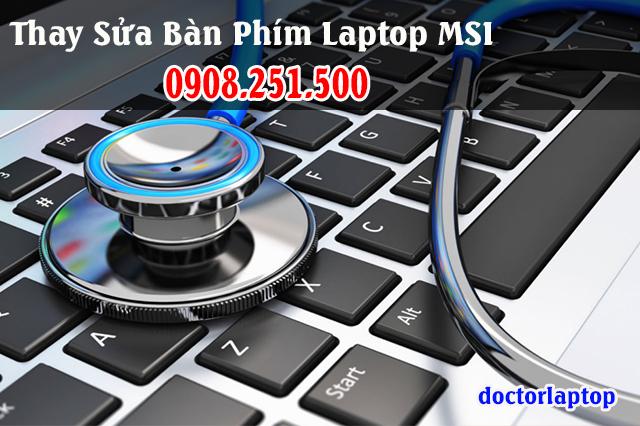 Thay sửa bàn phím laptop MSI - 1