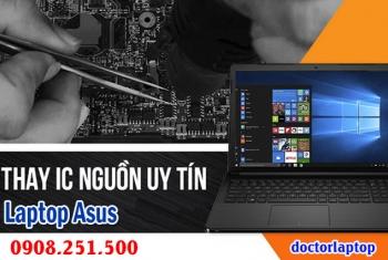 Sửa laptop Asus hư nguồn, hư IC nguồn, mở nguồn không lên