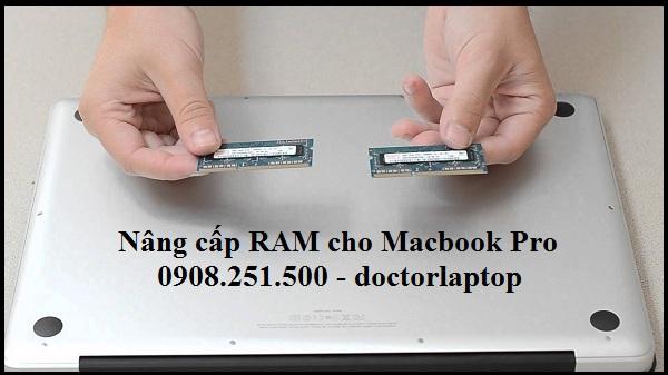 Nâng cấp RAM Macbook Pro uy tín HCM