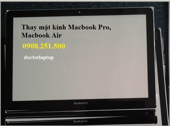 Thay mặt kính Macbook chính hãng lấy liền HCM
